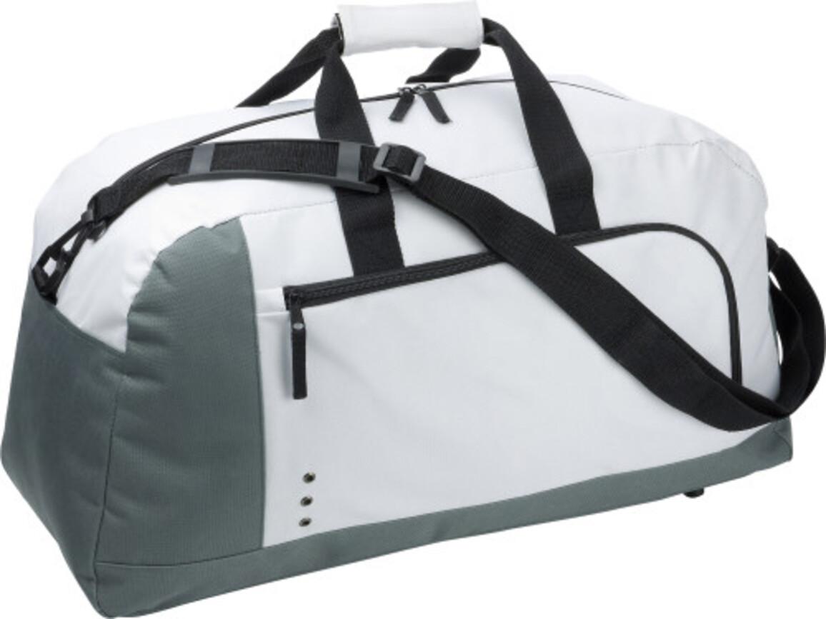 Sporttasche 'Premium' aus Polyester – Weiß bedrucken, Art.-Nr. 002999999_3572