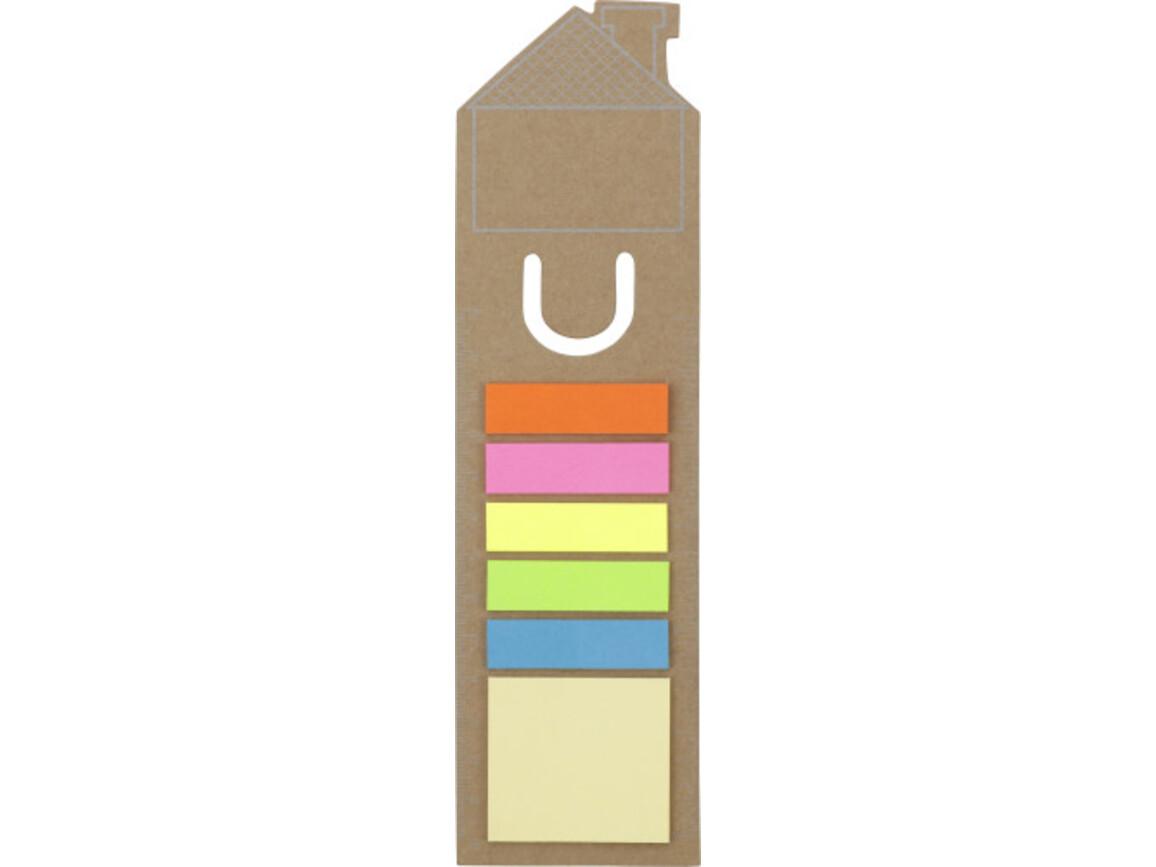 Lesezeichen 'Haus' aus Pappe – Braun bedrucken, Art.-Nr. 011999999_3586