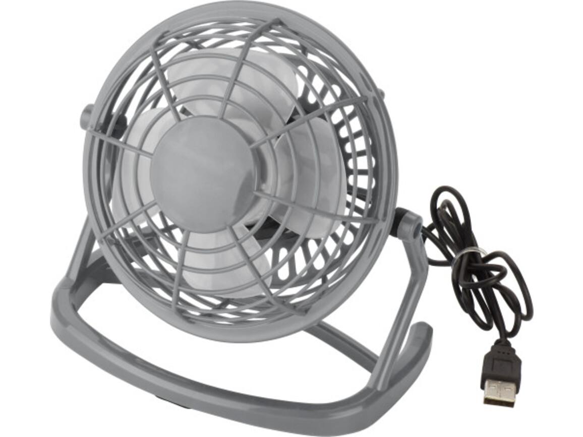 USB-Ventilator 'Hurricane' aus Kunststoff – Grau bedrucken, Art.-Nr. 003999999_3639