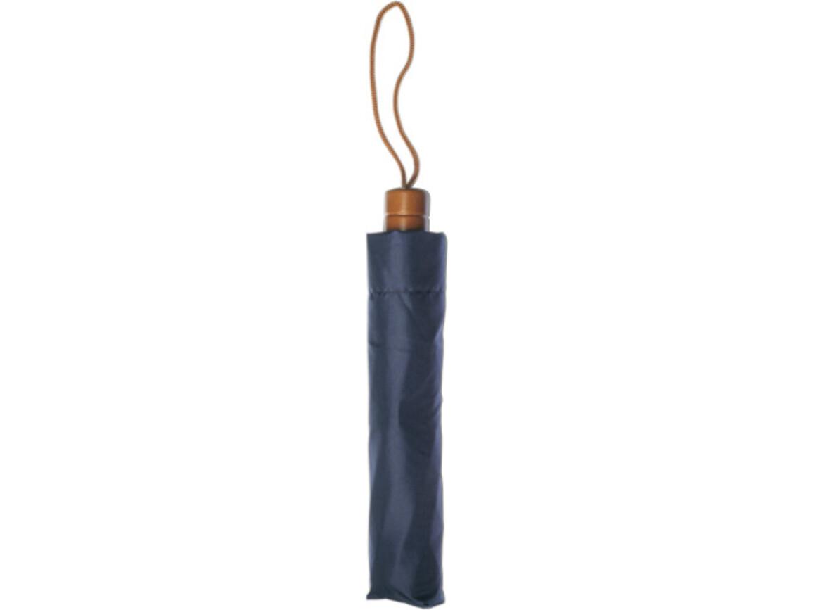 Taschenschirm 'Mason' aus Polyester – Blau bedrucken, Art.-Nr. 005999999_4055