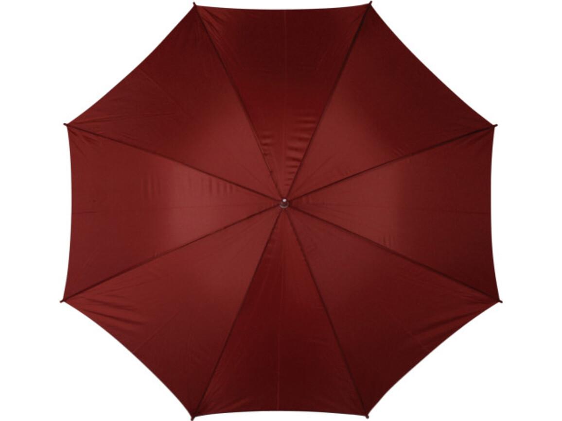 Portierschirm 'Harry' aus Polyester – Bordeauxrot bedrucken, Art.-Nr. 010999999_4066
