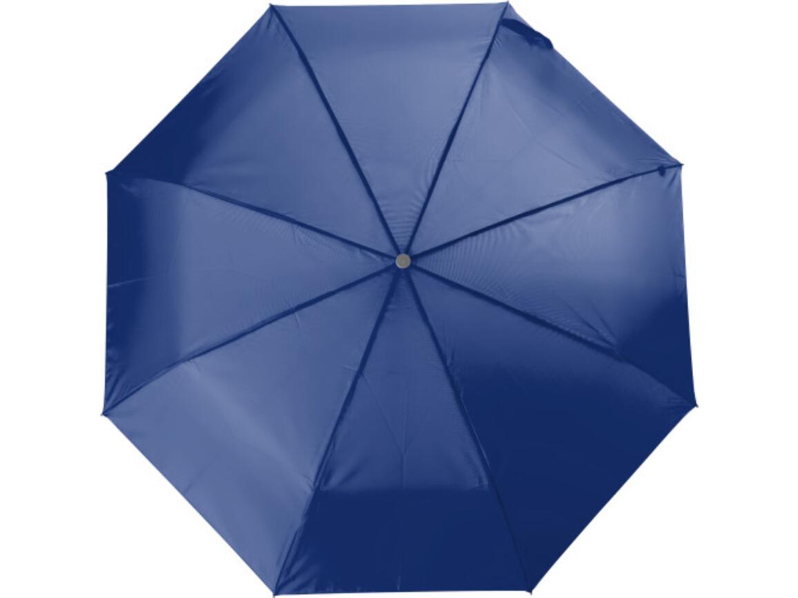 Aluminium Taschenschirm aus Polyester – Blau bedrucken, Art.-Nr. 005999999_4104