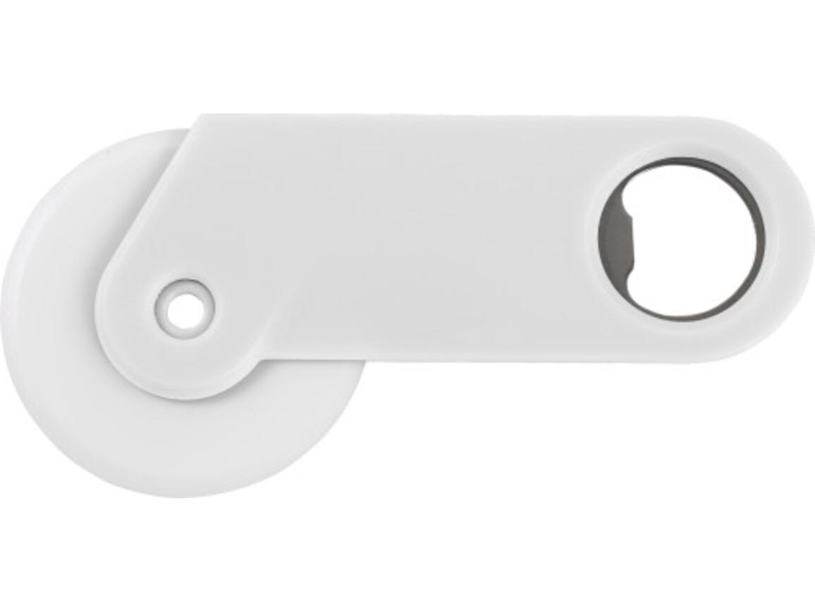 Pizzaschneider 'Osteria' aus Kunststoff – Weiß bedrucken, Art.-Nr. 002999999_4109