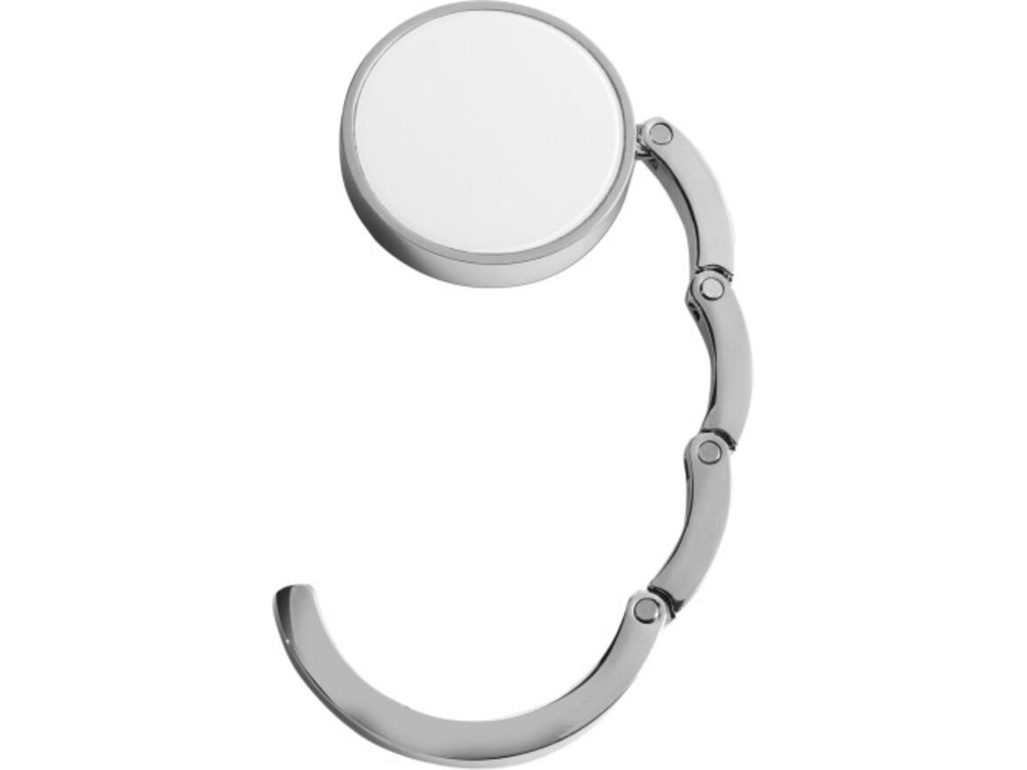 Taschen-/Jackenhalter 'Storm' aus Metall – Weiß bedrucken, Art.-Nr. 002999999_4154