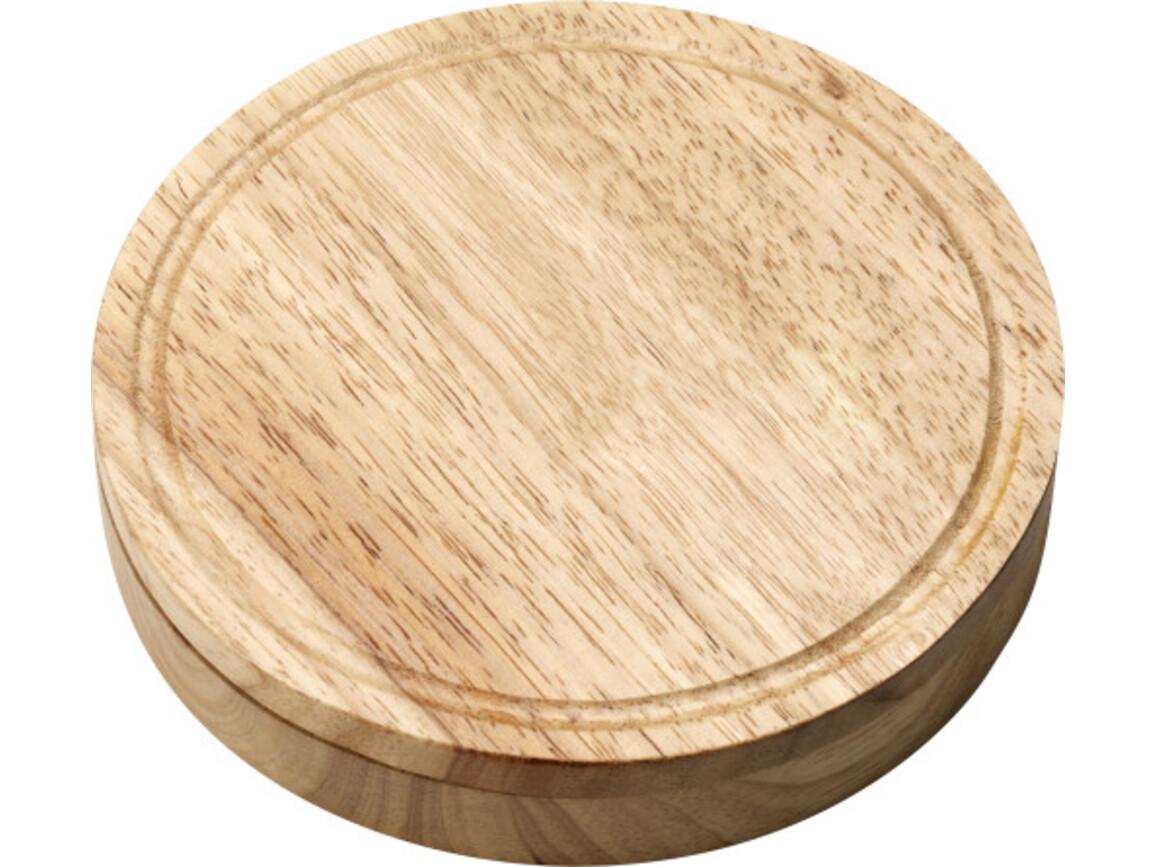 Käseset 'Chester' aus Holz – Braun bedrucken, Art.-Nr. 011999999_4582