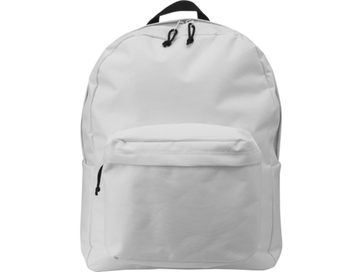 Rucksack 'Basic' aus Polyester – Weiß bedrucken, Art.-Nr. 002999999_4585