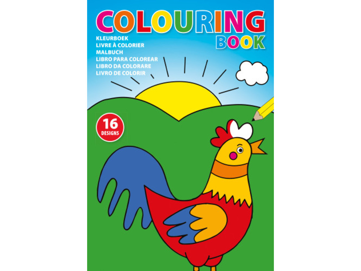 Kinder Malbuch 'Leni' aus Papier – custom/multicolor bedrucken, Art.-Nr. 009999999_4731