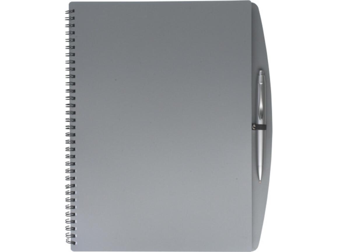 Notizbuch 'Spektrum' aus Kunststoff – Grau bedrucken, Art.-Nr. 003999999_5141