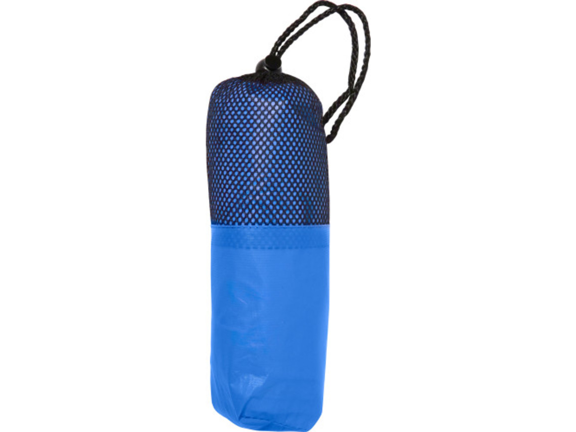 Poncho 'Dry' aus PEVA – Blau bedrucken, Art.-Nr. 005999999_5308