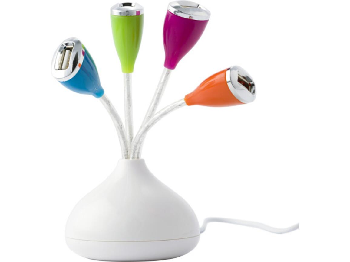 USB-Hub 'Retro' aus ABS-Kunststoff – custom/multicolor bedrucken, Art.-Nr. 009999999_5957