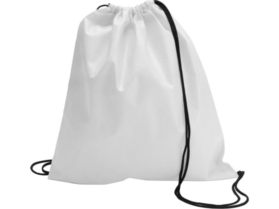 Schuh-/Rucksack (Turnbeutel) 'Modo' aus Non-Woven – Weiß bedrucken, Art.-Nr. 002999999_6232