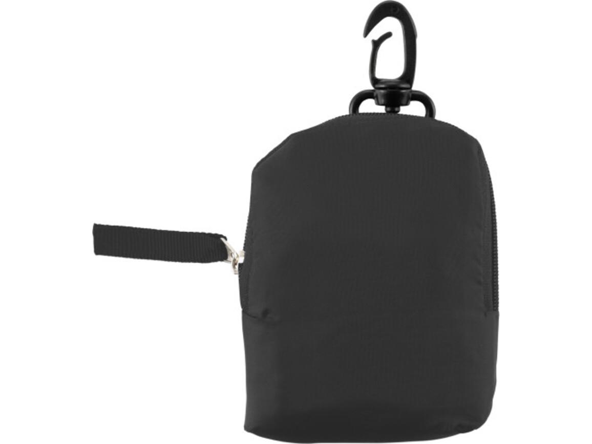 Einkaufstasche 'Pocket' aus Polyester – Schwarz bedrucken, Art.-Nr. 001999999_6266
