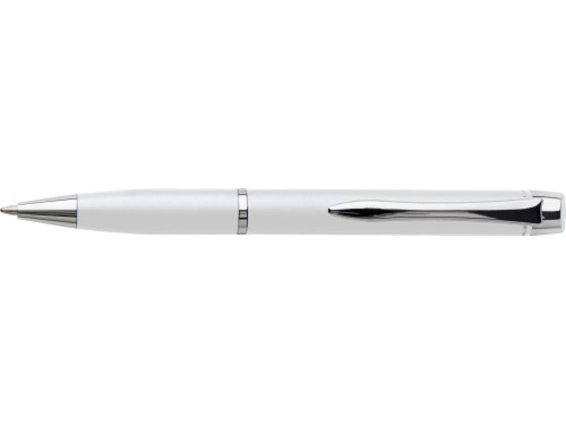 Kugelschreiber 'Vincent' aus Metall – Weiß bedrucken, Art.-Nr. 002999999_6614