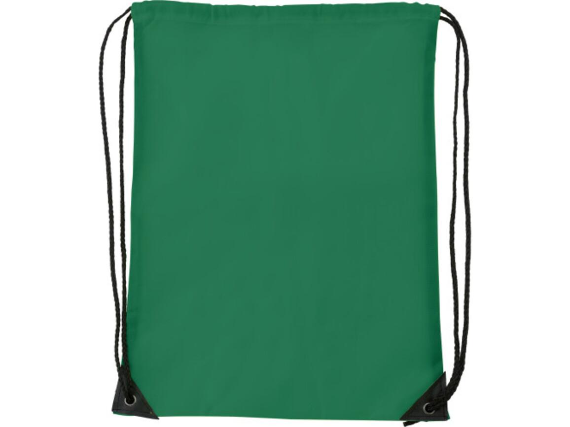 Turnbeutel 'Basic' aus Polyester – Grün bedrucken, Art.-Nr. 004999999_7097