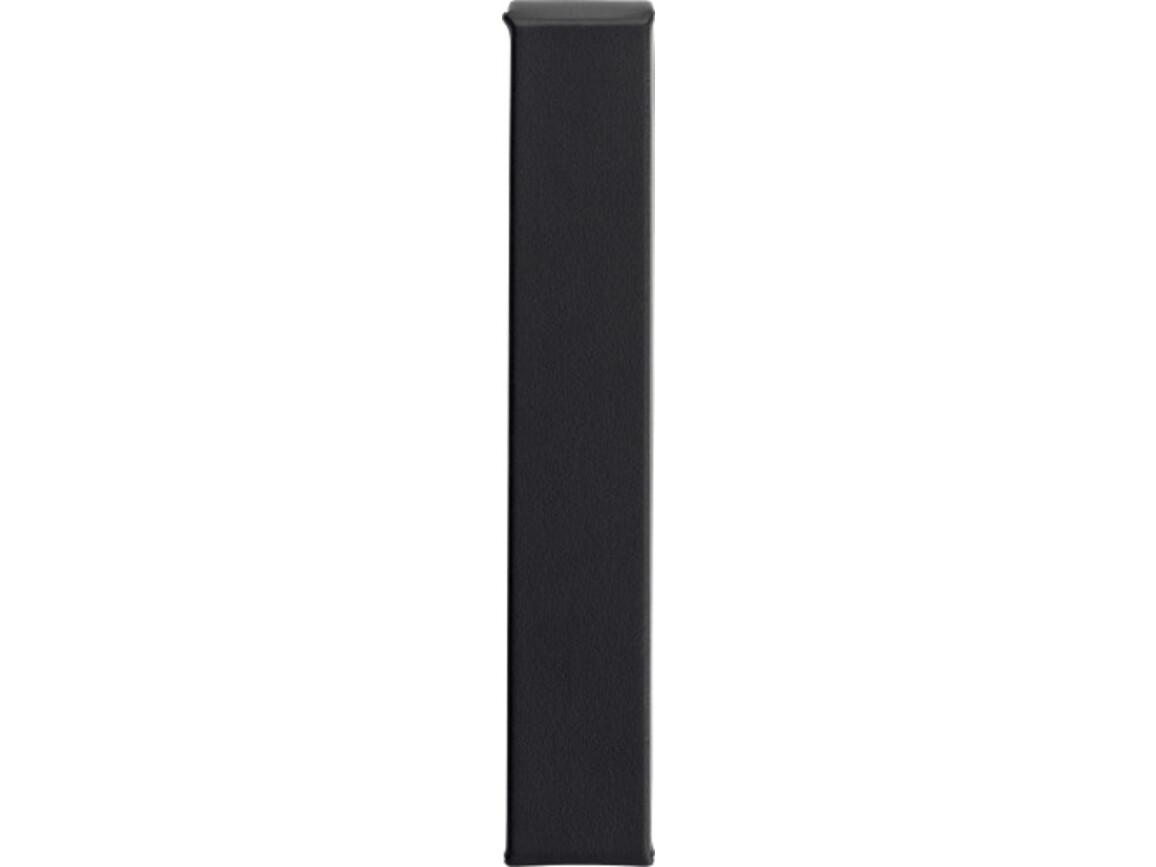 Etui 'Blackline' aus PU – Schwarz bedrucken, Art.-Nr. 001999999_7129