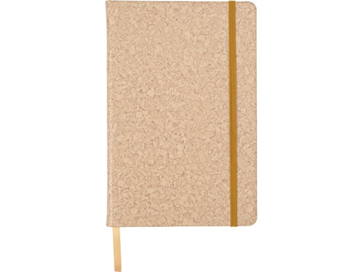Notizbuch 'Korky' aus PU – Braun bedrucken, Art.-Nr. 011999999_7257
