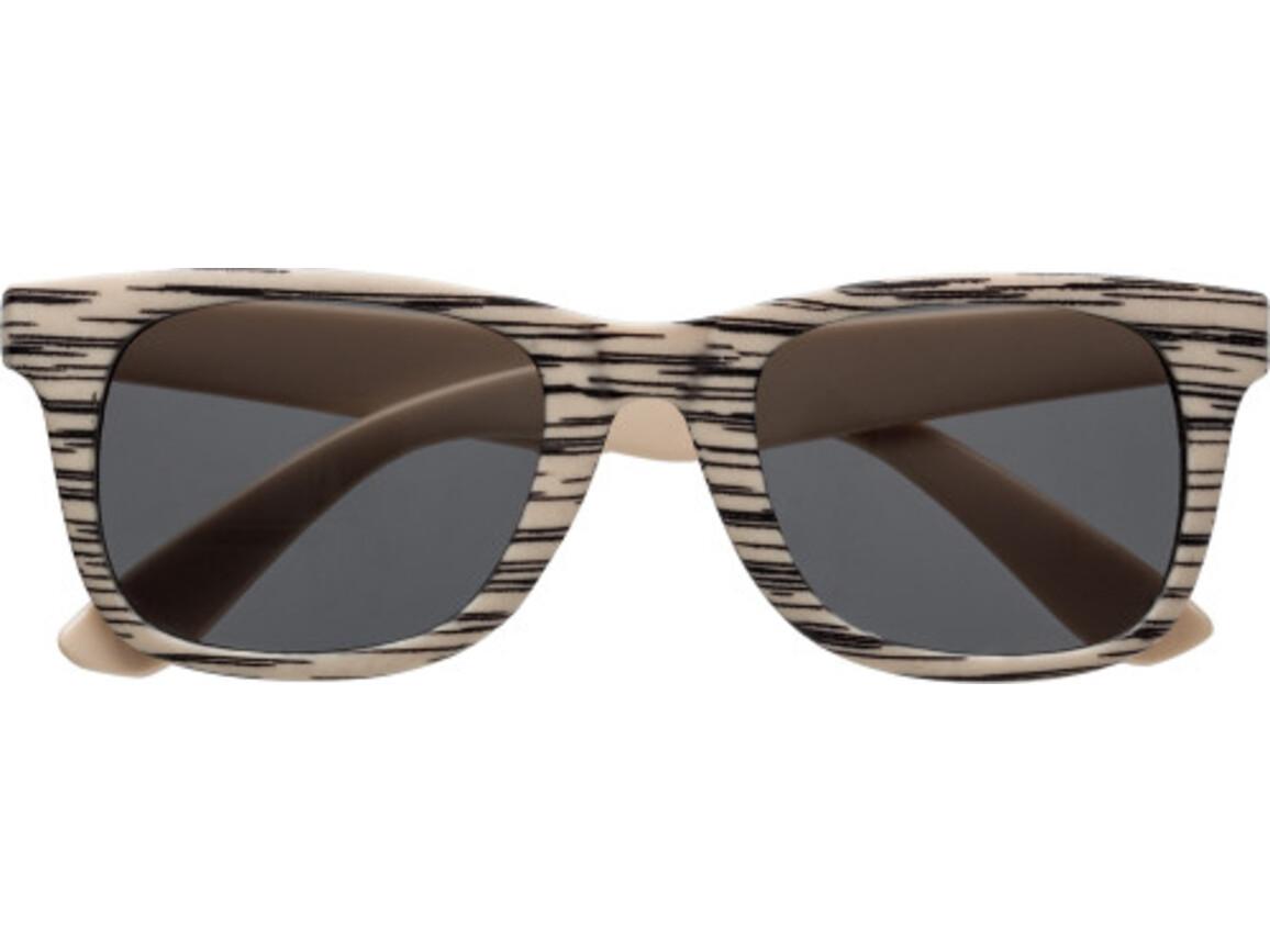 Sonnenbrille 'Aviator' aus Kunststoff – Braun bedrucken, Art.-Nr. 011999999_7472