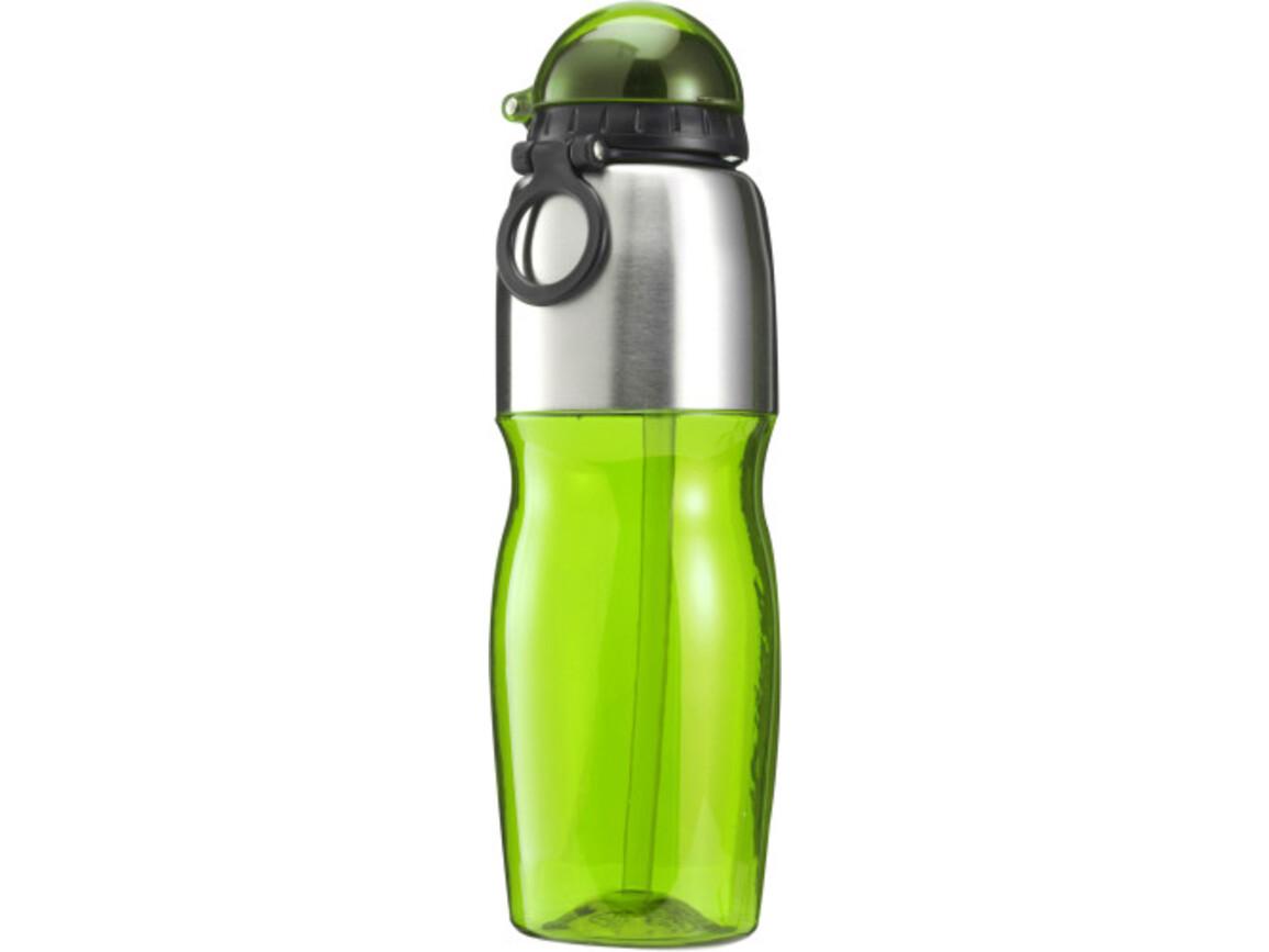 Trinkflasche 'Sports' aus Kunststoff – Grün bedrucken, Art.-Nr. 004999999_7551