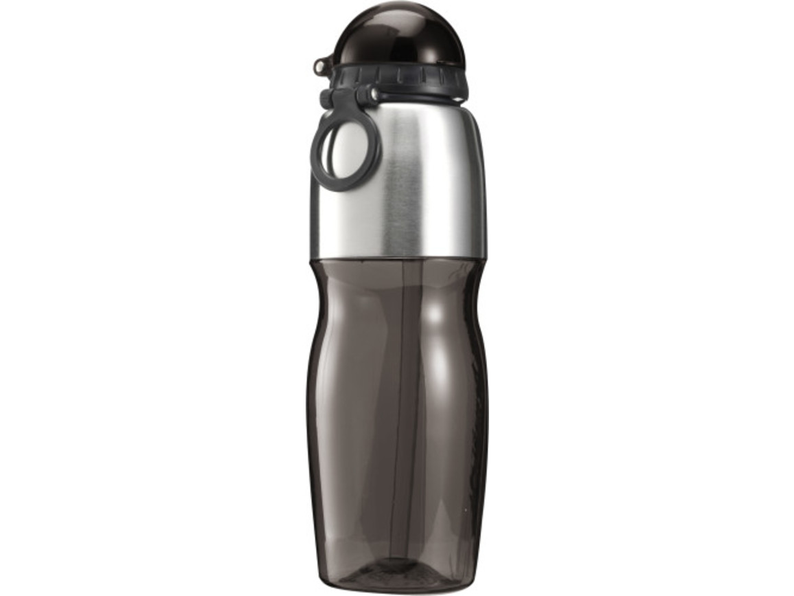 Trinkflasche 'Sports' aus Kunststoff – Schwarz bedrucken, Art.-Nr. 001999999_7551
