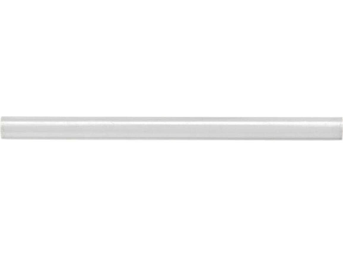 Zimmermannsbleistift 'Memo' aus Holz – Weiß bedrucken, Art.-Nr. 002999999_7555