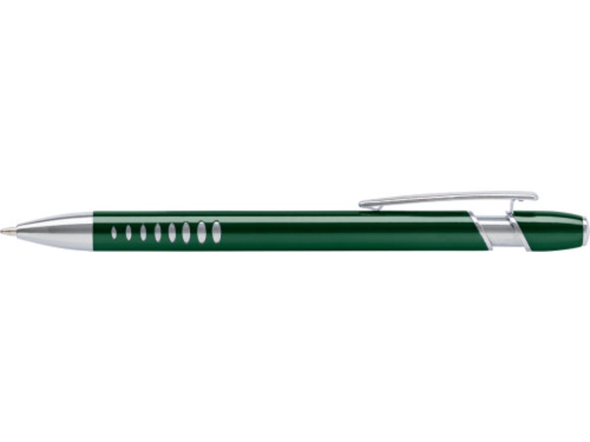 Kugelschreiber 'Klassik' aus Aluminium – Grün bedrucken, Art.-Nr. 004999999_7581