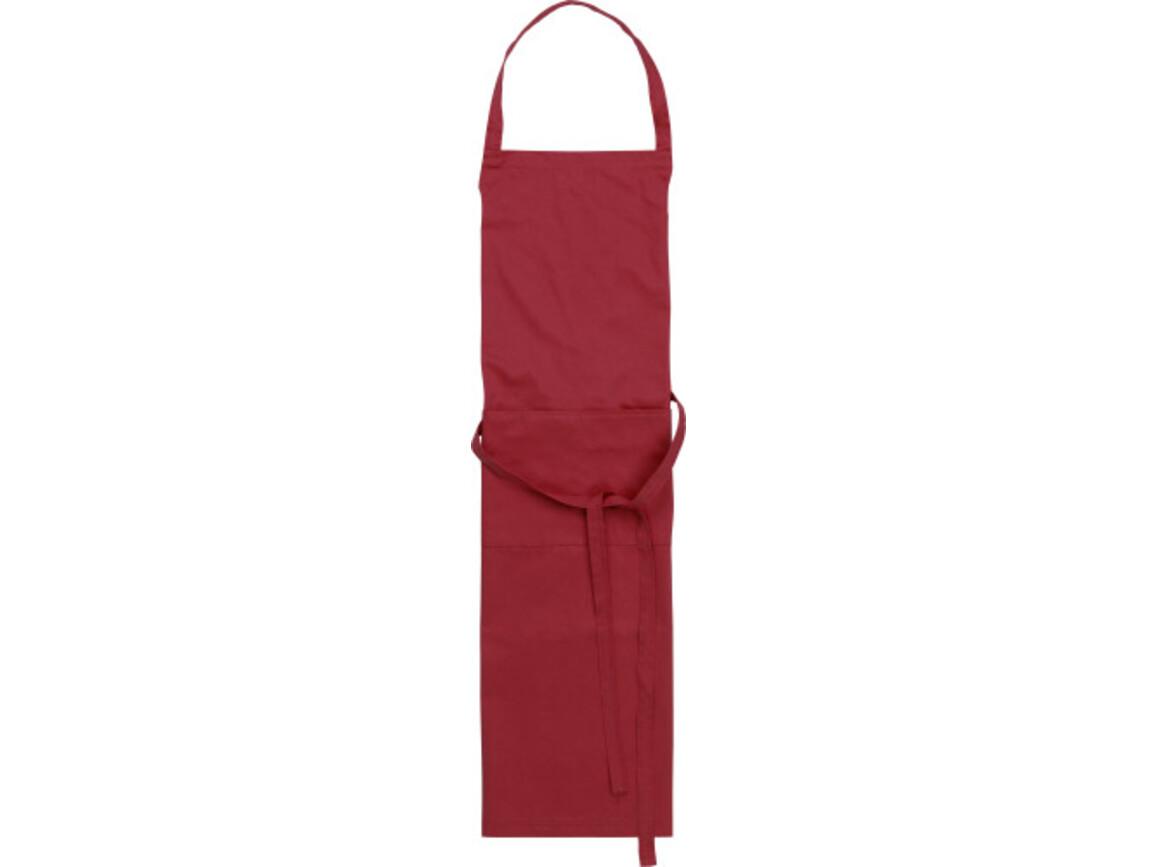 Küchenschürze 'Cuisine' aus Polyester/Baumwolle – Bordeauxrot bedrucken, Art.-Nr. 010999999_7635