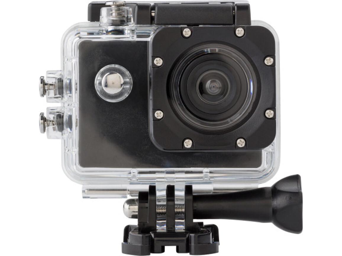 Kamera 'Action' aus Kunststoff – Schwarz bedrucken, Art.-Nr. 001999999_7686