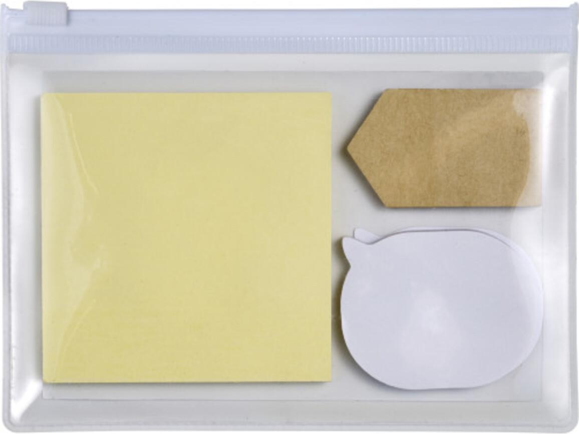Haftnotiz-Set 'Popular' in PVC-Etui – Weiß bedrucken, Art.-Nr. 002999999_7805