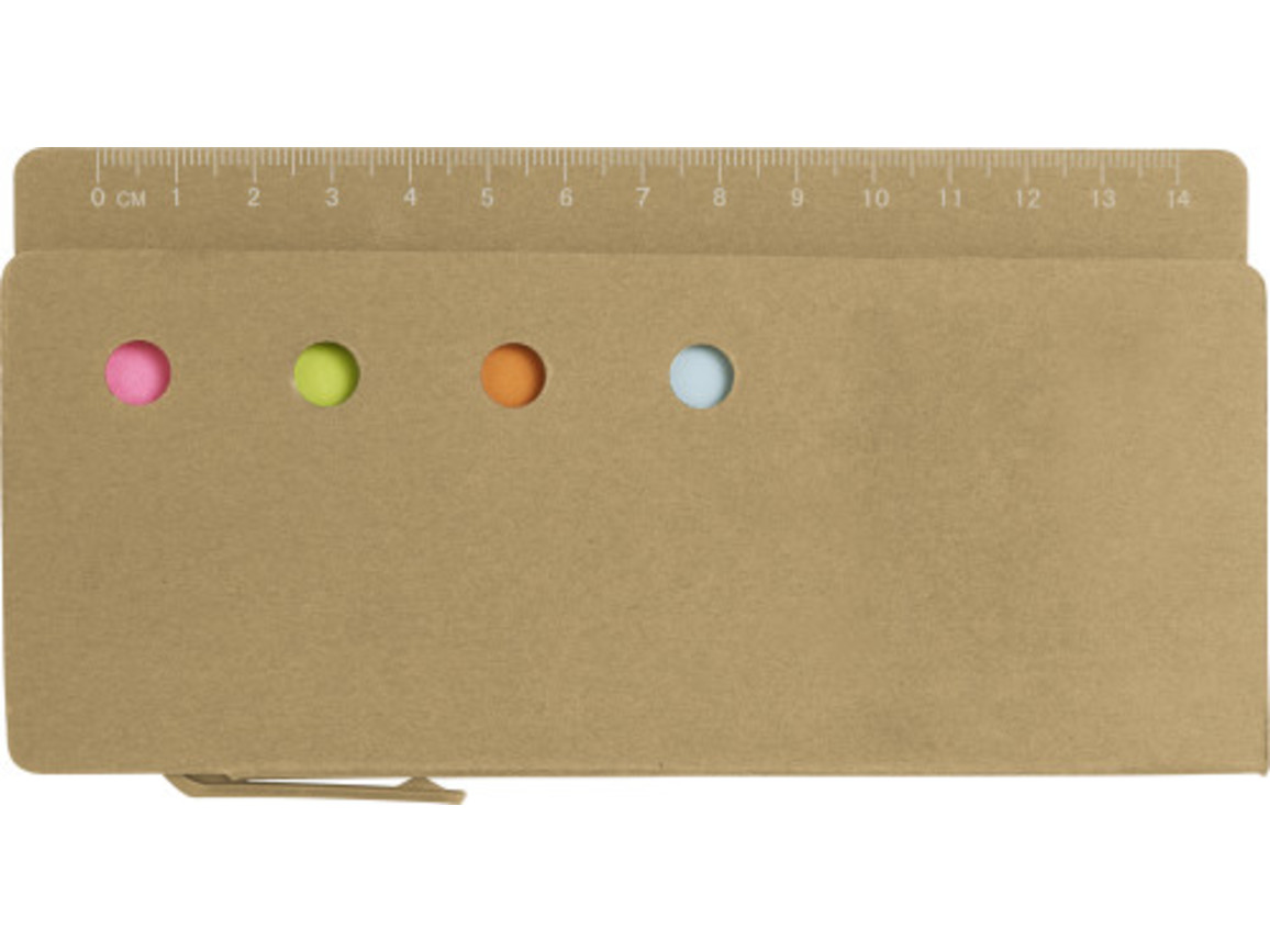 Haftnotiz-Set 'Pur' aus Karton – Braun bedrucken, Art.-Nr. 011999999_7830