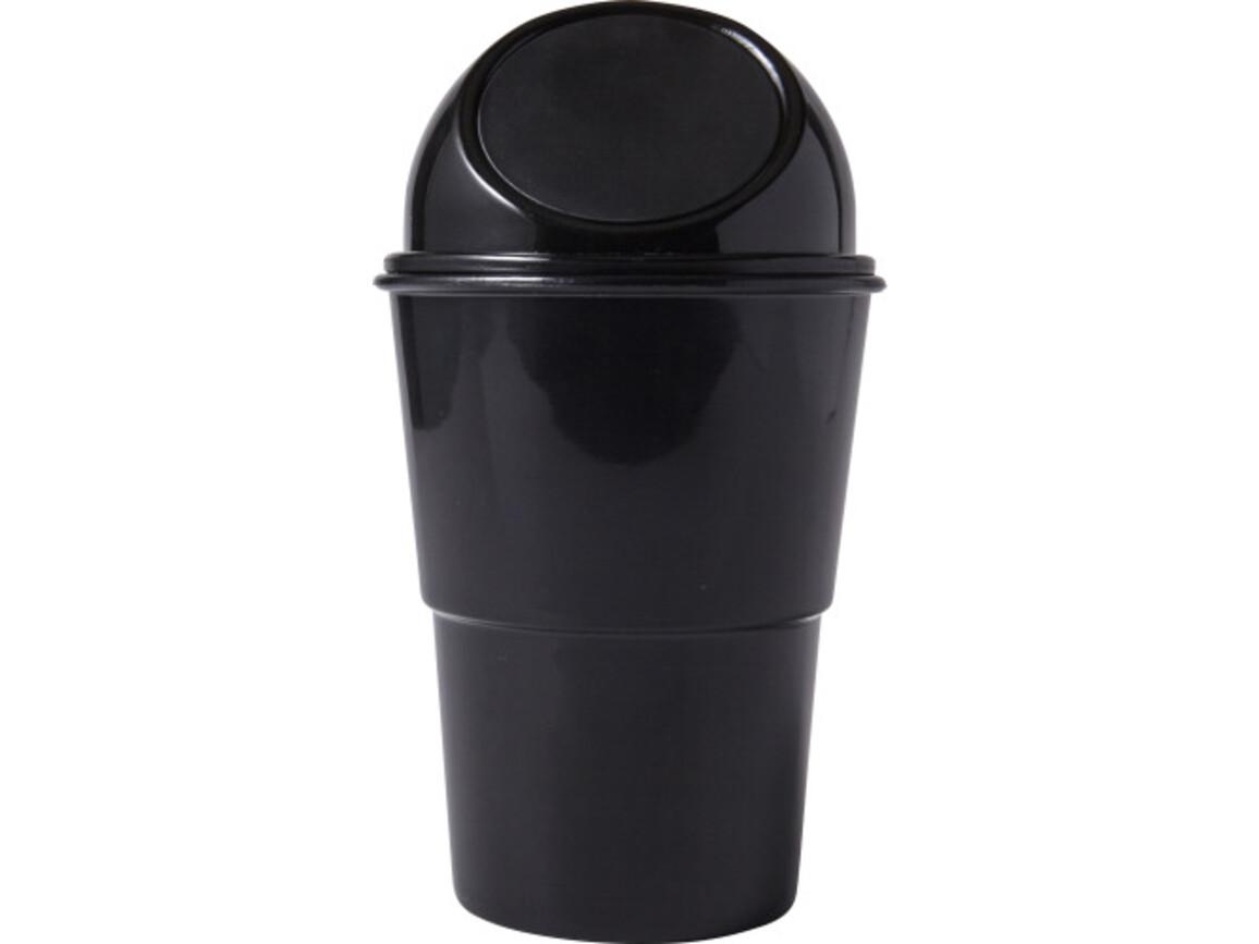 Mini-Mülleimer 'Push' aus Kunststoff – Schwarz bedrucken, Art.-Nr. 001999999_7831