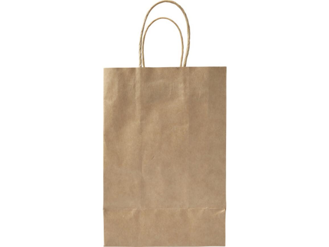 Tragetasche 'Small present' aus recycelten Papier – Braun bedrucken, Art.-Nr. 011999999_7840