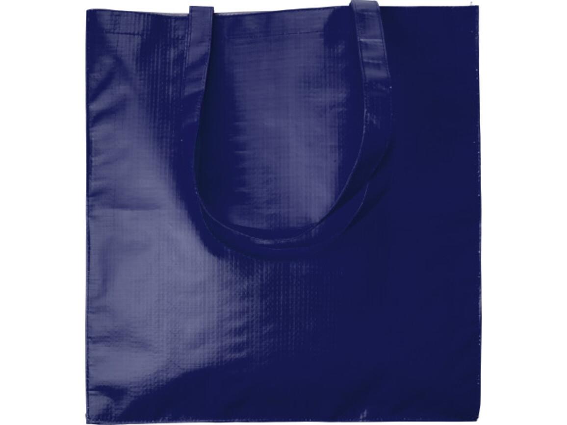 Einkaufstasche 'Twice' aus Papier – Blau bedrucken, Art.-Nr. 005999999_7845