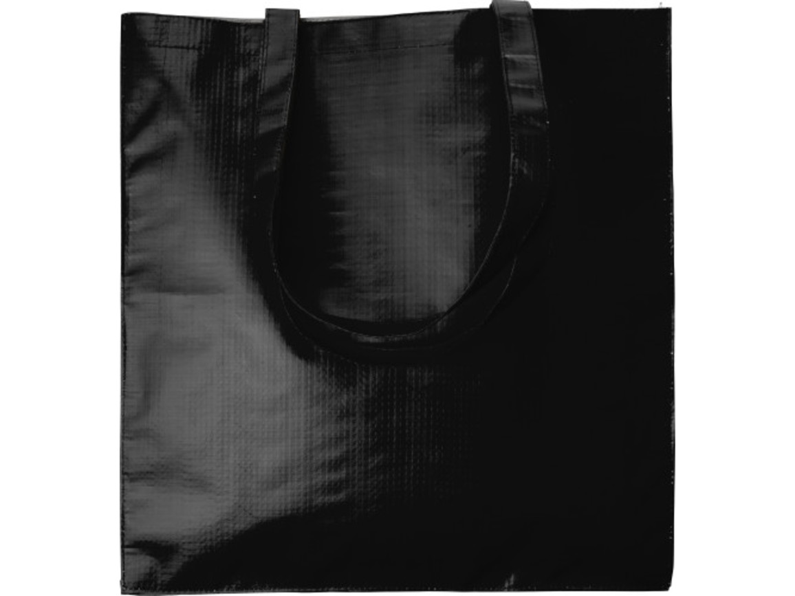 Einkaufstasche 'Twice' aus Papier – Schwarz bedrucken, Art.-Nr. 001999999_7845
