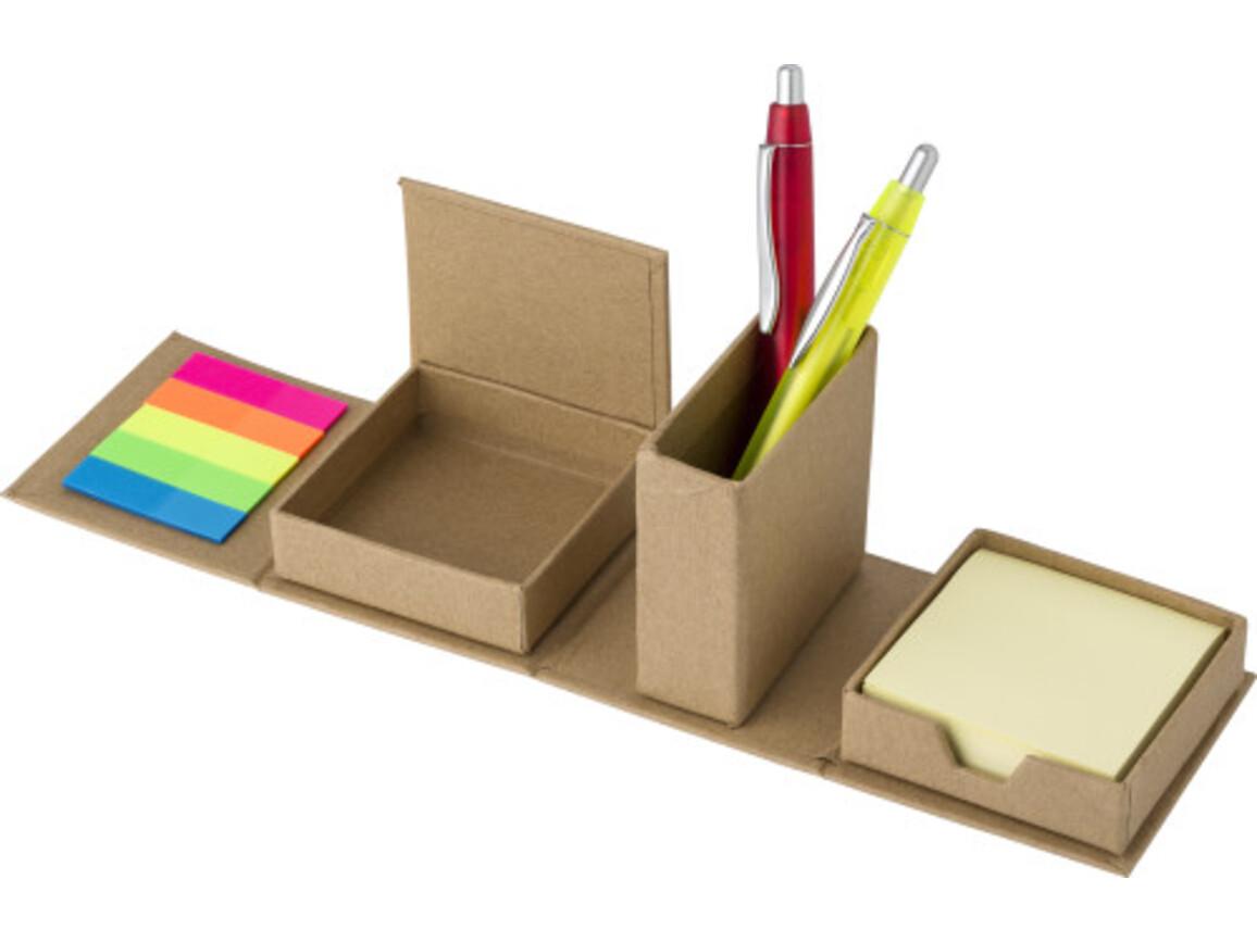 Notiz-Würfel 'Dice' aus recycelter Pappe – Braun bedrucken, Art.-Nr. 011999999_7866