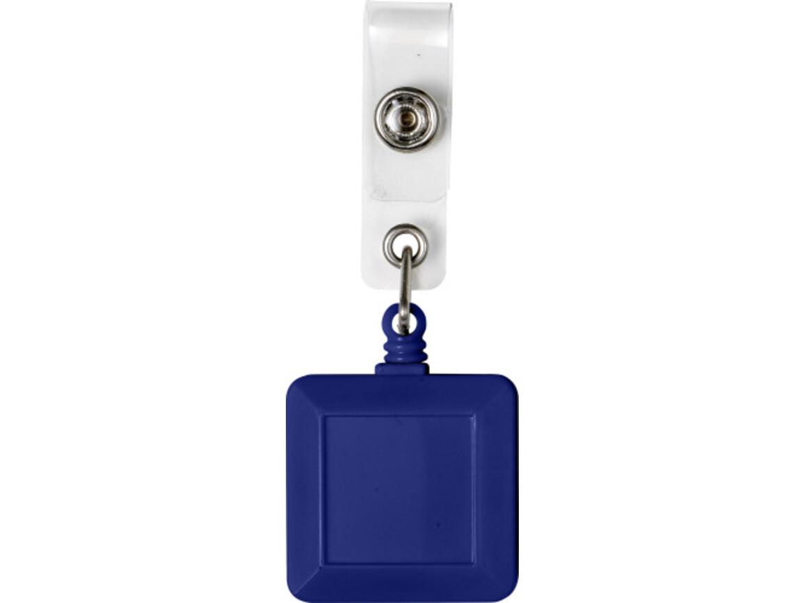 Ausweishalter 'Fair' aus Kunststoff – Blau bedrucken, Art.-Nr. 005999999_7908