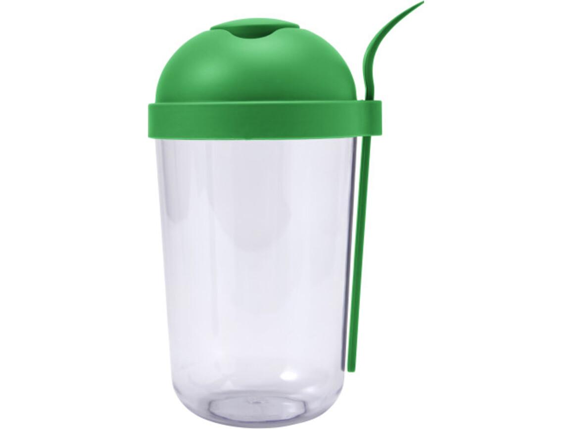 Salatbox 'Salido' aus Kunststoff – Grün bedrucken, Art.-Nr. 004999999_7927