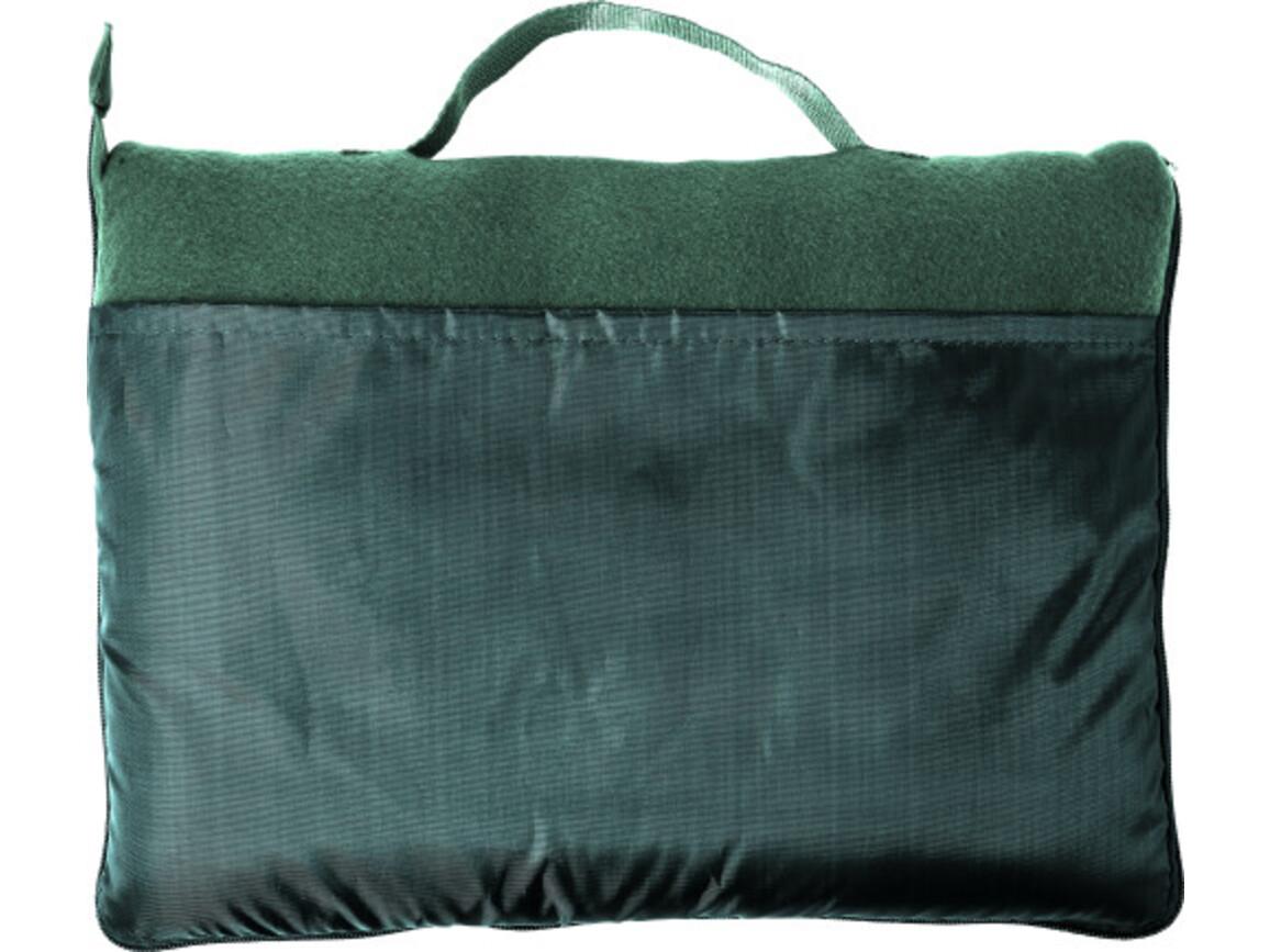 Fleece-Decke 'Groningen' aus Polyester – Grün bedrucken, Art.-Nr. 004999999_7952