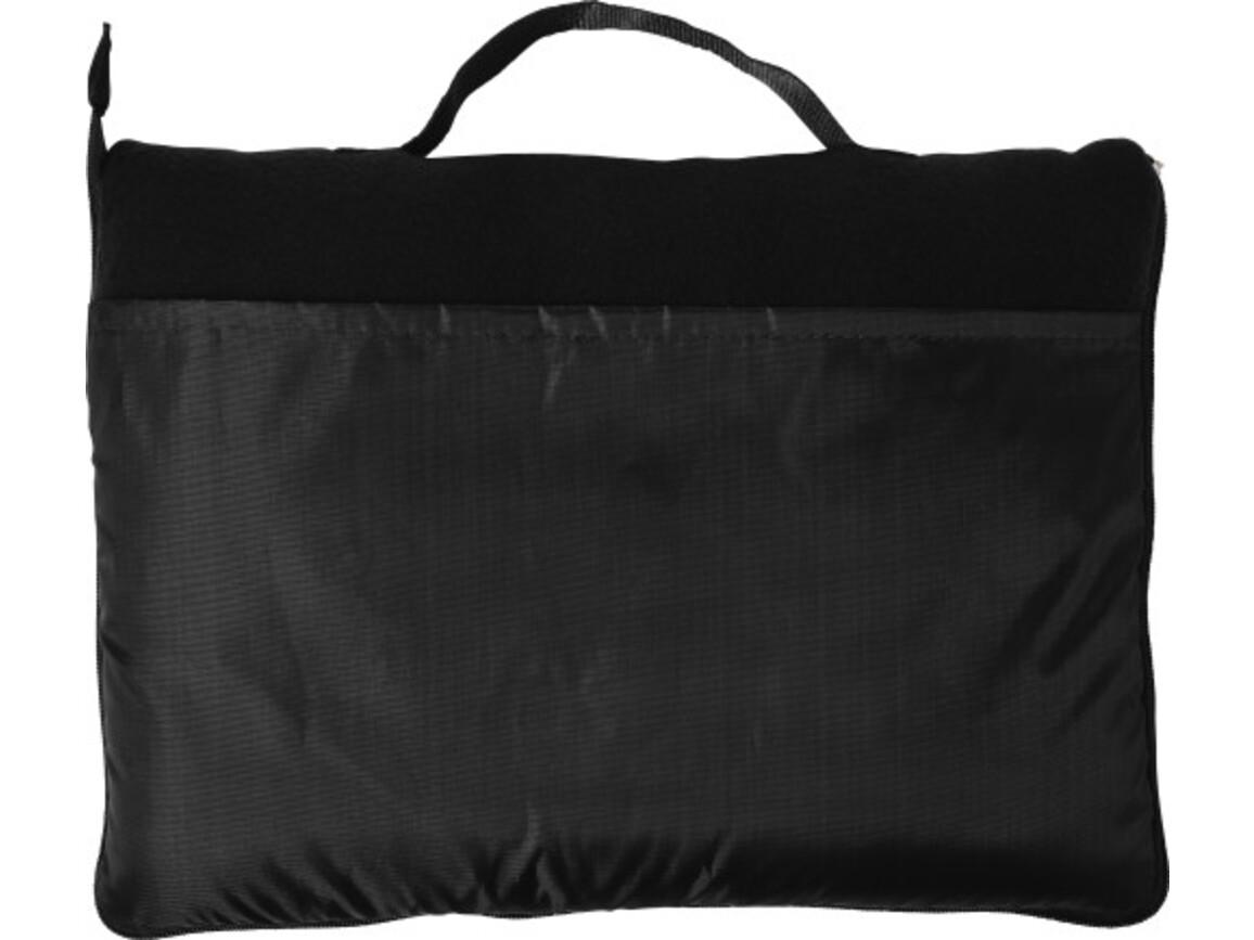 Fleece-Decke 'Groningen' aus Polyester – Schwarz bedrucken, Art.-Nr. 001999999_7952