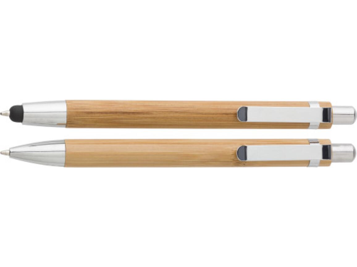 Kugelschreiber-Set 'Bamboo' aus Bambus – Braun bedrucken, Art.-Nr. 011999999_7974