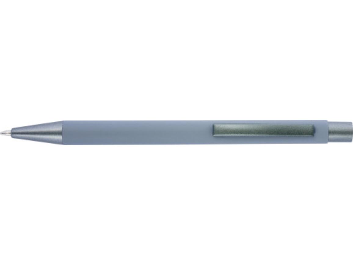 Kugelschreiber 'Amrum' mit Softtouch-Oberfläche und Glanzgravur – Grau bedrucken, Art.-Nr. 003999999_8298