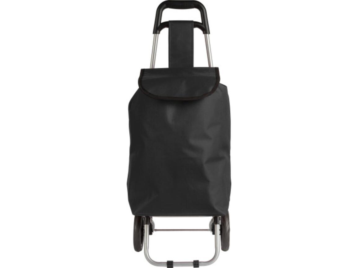 Trolley 'Granny' aus 600D Polyester – Schwarz bedrucken, Art.-Nr. 001999999_8484