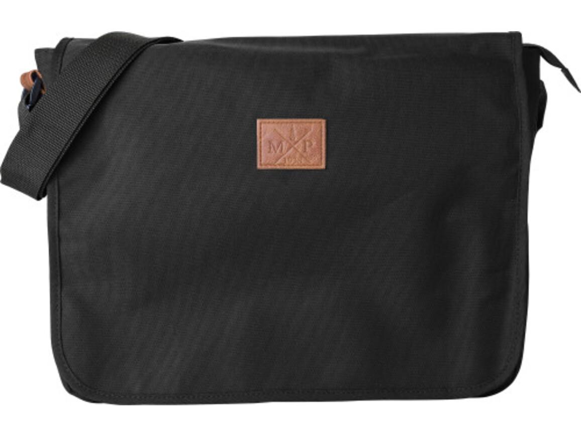 Schultertasche 'Delivery' aus 600D Polyester – Schwarz bedrucken, Art.-Nr. 001999999_8494