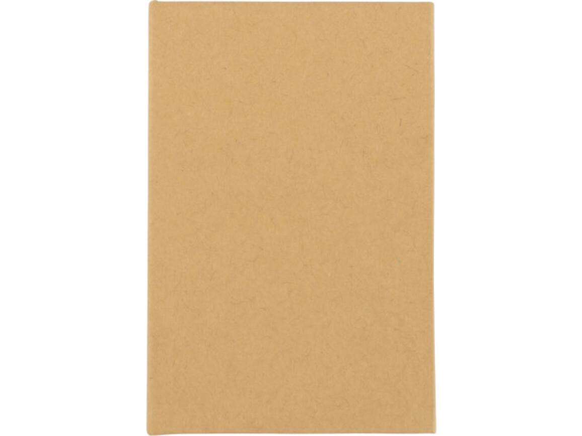 Notizbuch 'Compact' mit Haftnotizen – Braun bedrucken, Art.-Nr. 011999999_8532