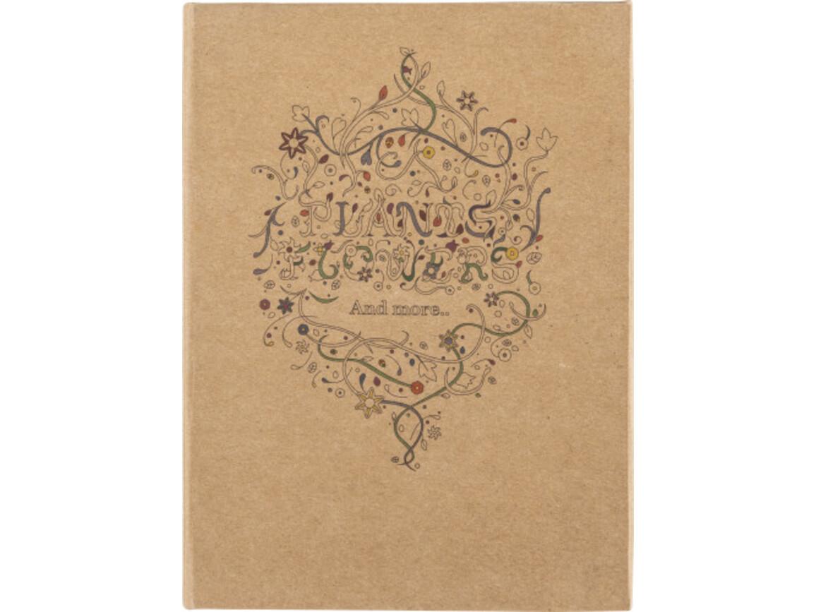 Malbuch 'Floral' für Erwachsene – Braun bedrucken, Art.-Nr. 011999999_8670