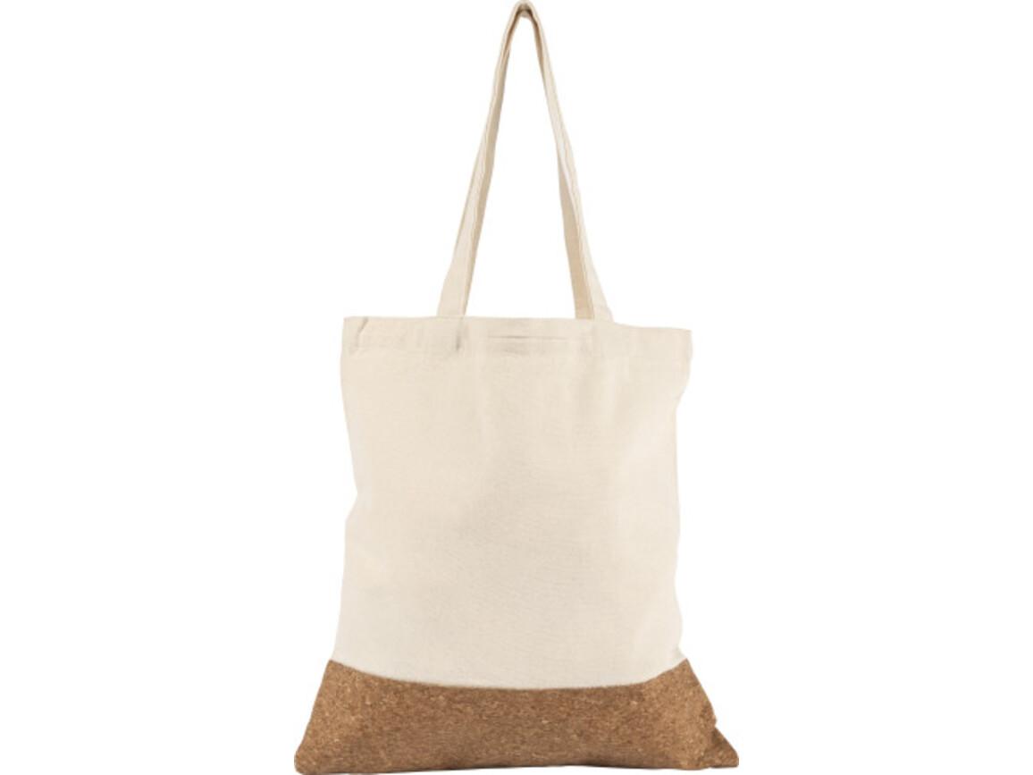 Einkaufstasche 'Klaus' aus Baumwolle – Khaki bedrucken, Art.-Nr. 013999999_8733