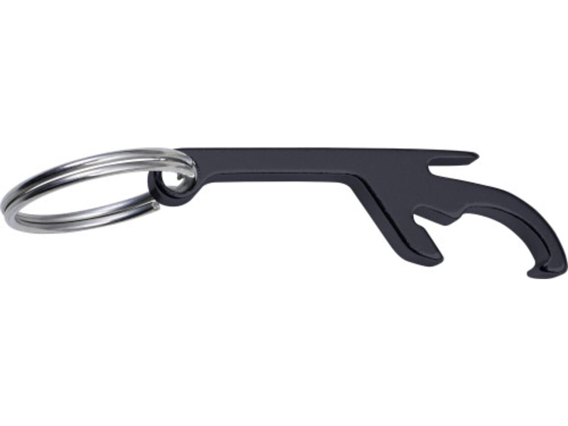 Schlüsselanhänger 'Sylt' mit Dosen- und Flaschenöffner – Schwarz bedrucken, Art.-Nr. 001999999_8838