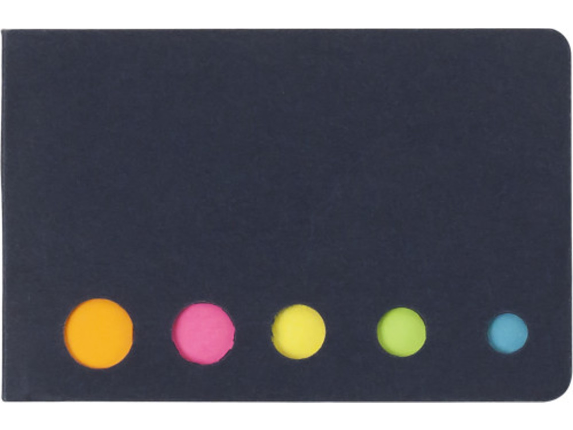 Haftnotizen 'Sticker' aus Karton – Schwarz bedrucken, Art.-Nr. 001999999_9104