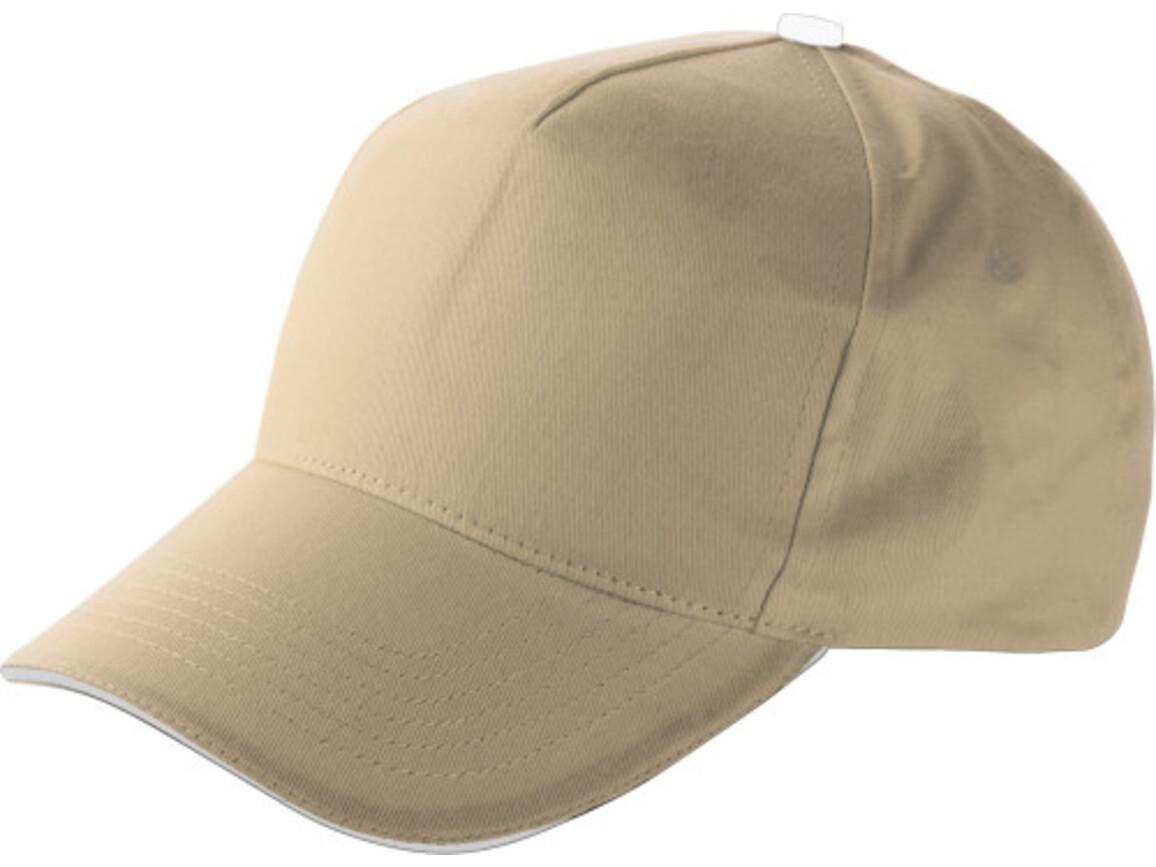Baseball-Cap 'Dallas' aus Baumwolle – Khaki bedrucken, Art.-Nr. 013999999_9114