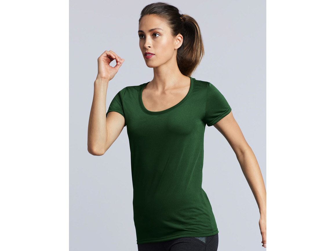 Gildan Performance Ladies` Core T-Shirt, Charcoal, L bedrucken, Art.-Nr. 010091305