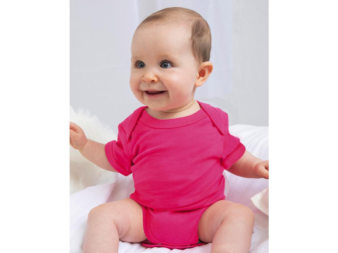 BabyBugz Baby Bodysuit, Heather Blue Organic, 12-18 bedrucken, Art.-Nr. 010473014